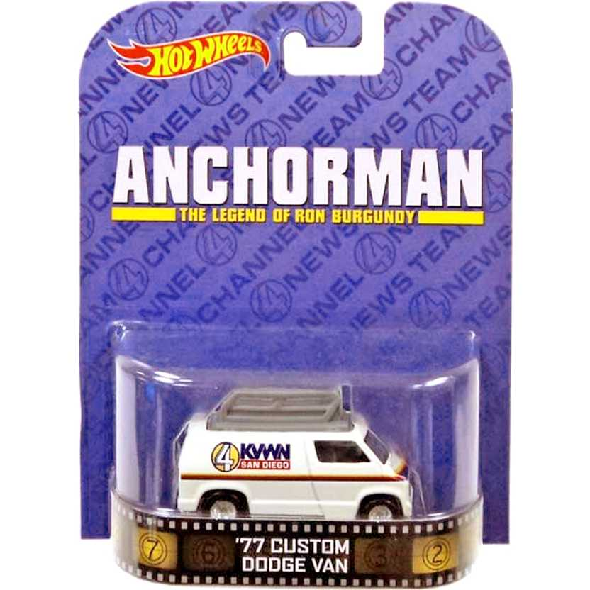 Hot Wheels Retro Entertainment Anchorman 77 Custom Dodge Van escala 1/64 BDT98