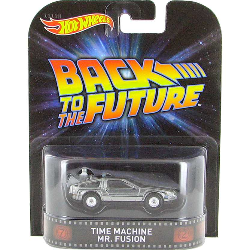Hot Wheels Retro Entertainment Back To The Future Delorean Mr. Fusion CFR36 escala 1/64