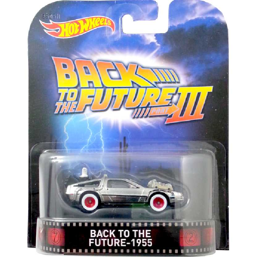Hot Wheels Retro Entertainment Back To The Future III 1955 Delorean CFR30 escala 1/64