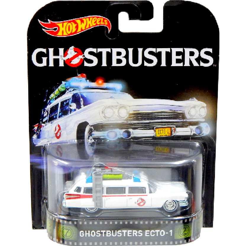 Hot Wheels Retro Entertainment Caça Fantasmas Ghostbusters ECTO-1 DJF53 escala 1/64