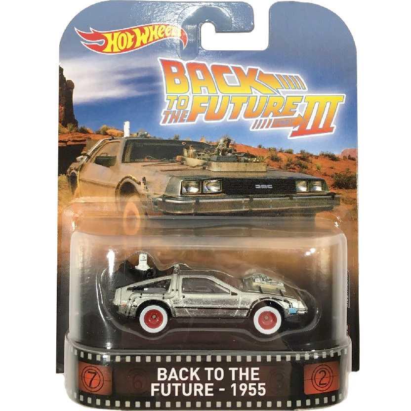 Hot Wheels Retro Entertainment DeLorean 1955 De Volta para o Futuro 3 DWJ77 escala 1/64