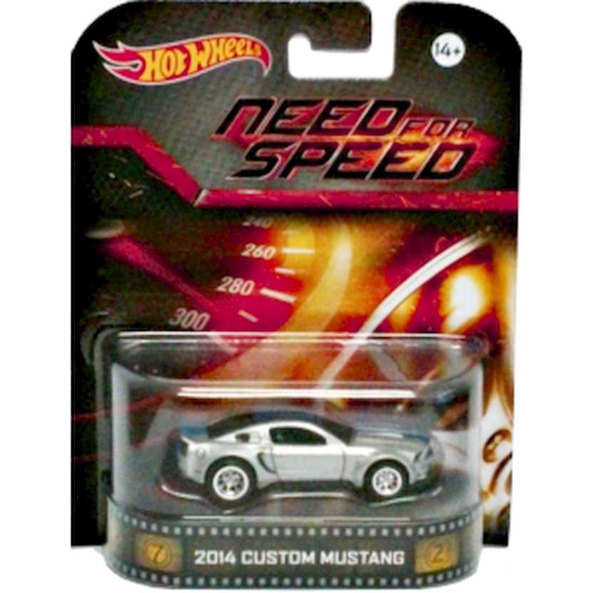 Hot Wheels Retro Entertainment Need For Speed 2014 Custom Mustang BDT87 escala 1/64