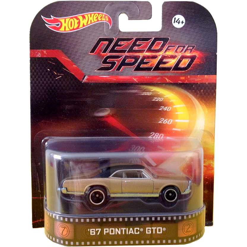 Hot Wheels Retro Entertainment Need For Speed 67 Pontiac GTO BDT83 escala 1/64