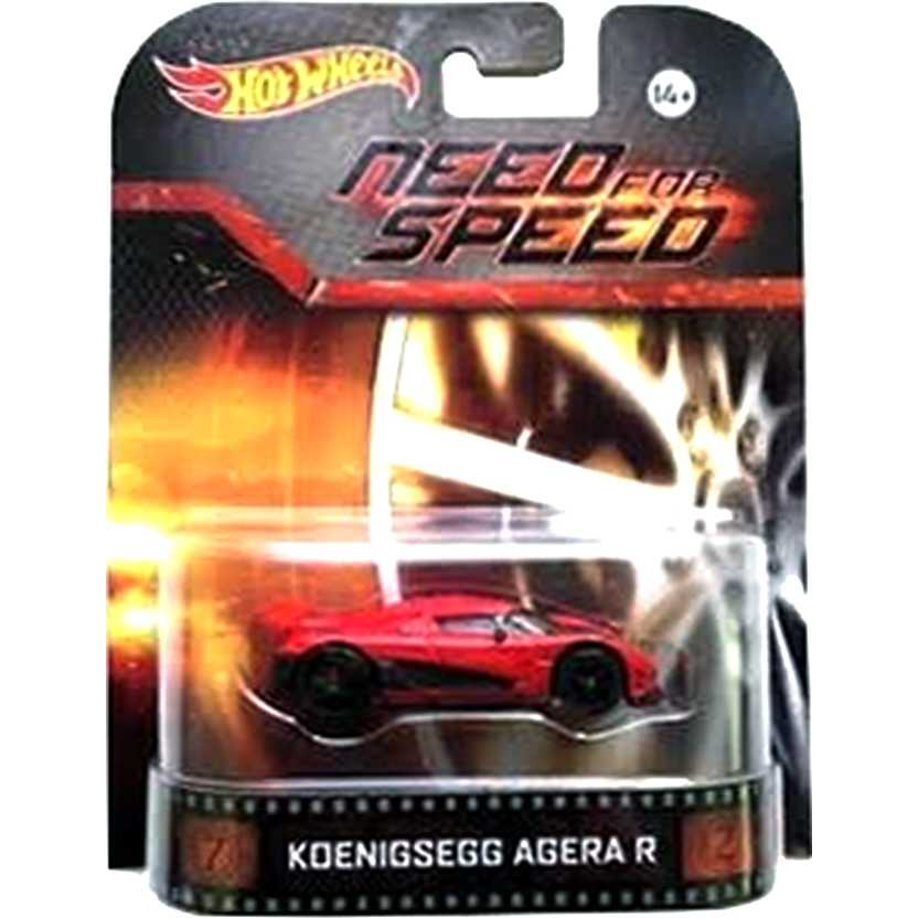 Hot Wheels Retro Entertainment Need For Speed Koenigsegg Agera R BDT86 escala 1/64