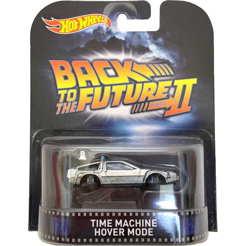 Hot Wheels Retro Entertainment Time Machine Delorean Hover Mode CFR15 escala 1/64