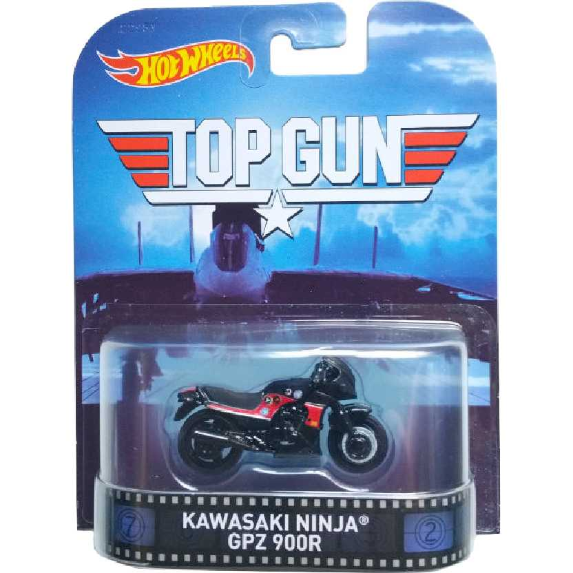 Hot Wheels Retro Entertainment Top Gun: Kawasaki Ninja GPZ 900R CFR29 escala 1/64