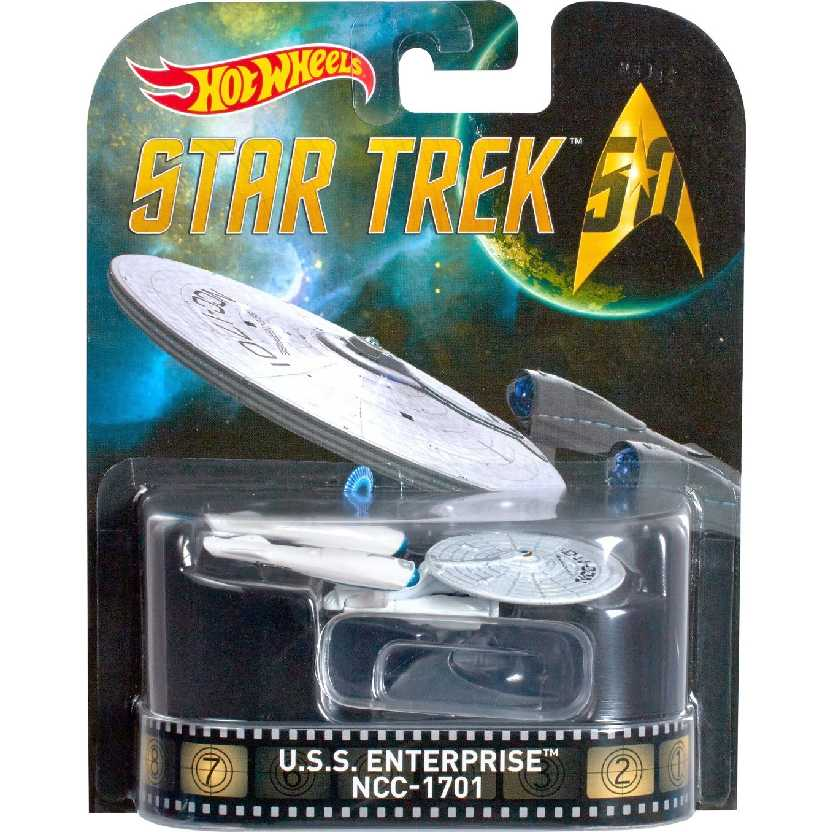 Hot Wheels Retro Entertainment USS Enterprise NCC-1701 Star Trek 50 anos DJF53