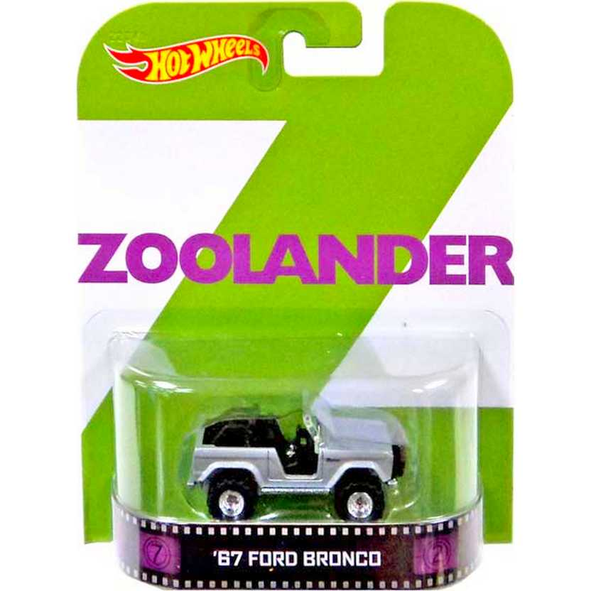 Hot Wheels Retro Entertainment Zoolander 67 Ford Bronco escala 1/64 BDV07