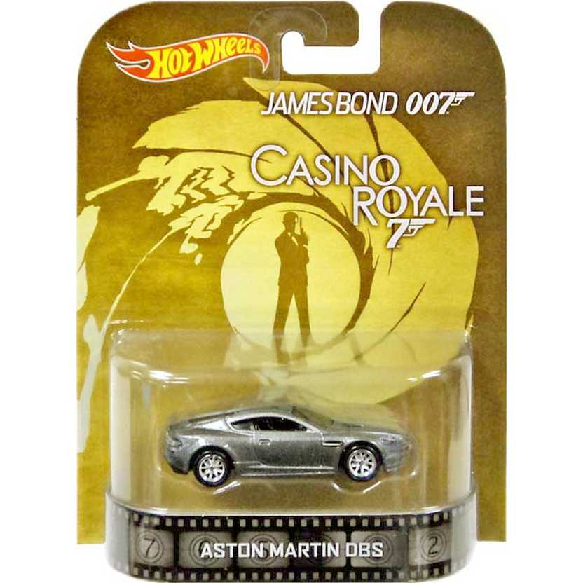Hot Wheels Retro James Bond 007 Casino Royale Aston Martin DBS escala 1/64 BDV05