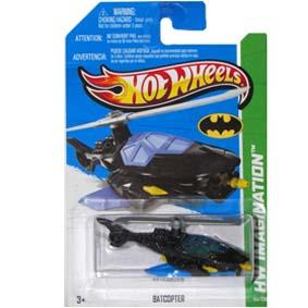 Hot Wheels série 2013 Batcopter Batcóptero do Batman X1712 series 64/250