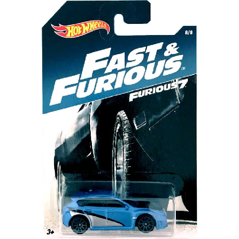 Hot Wheels Subaru WRX STI Velozes e Furiosos 7 Fast And Furious 7 8/8 DWF72 escala 1/64