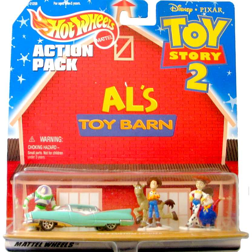 Hot Wheels Toy Story 2 Als Toy Barn (Woody, Buzz, Jessie, Bala no Alvo e Mineiro) 1/64