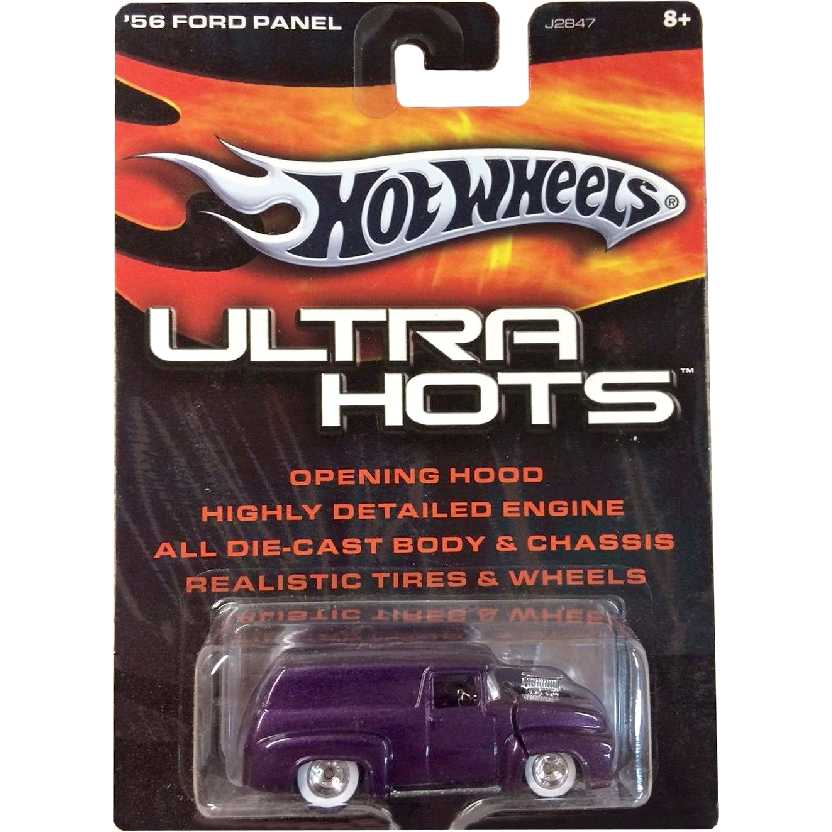Hot Wheels Ultra Hots 56 Ford Panel Truck roxo metálico J2847 escala 1/64