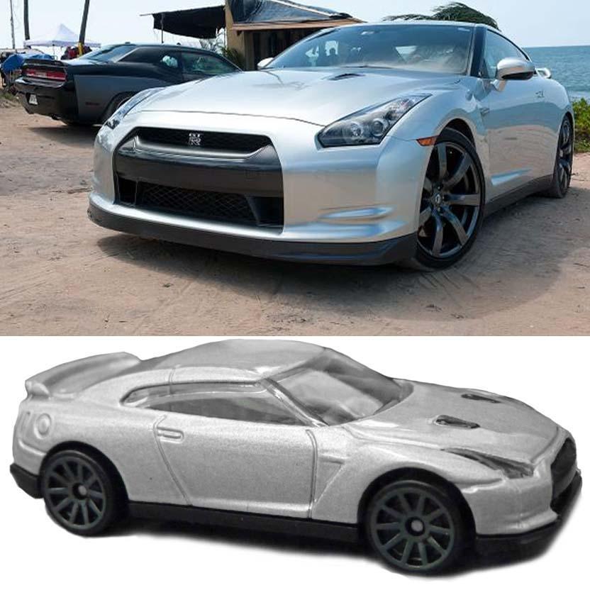 Hot Wheels Velozes e Furiosos 5 : 2009 Nissan GT-R Fast & Furious ( Fast Five ) Y2129