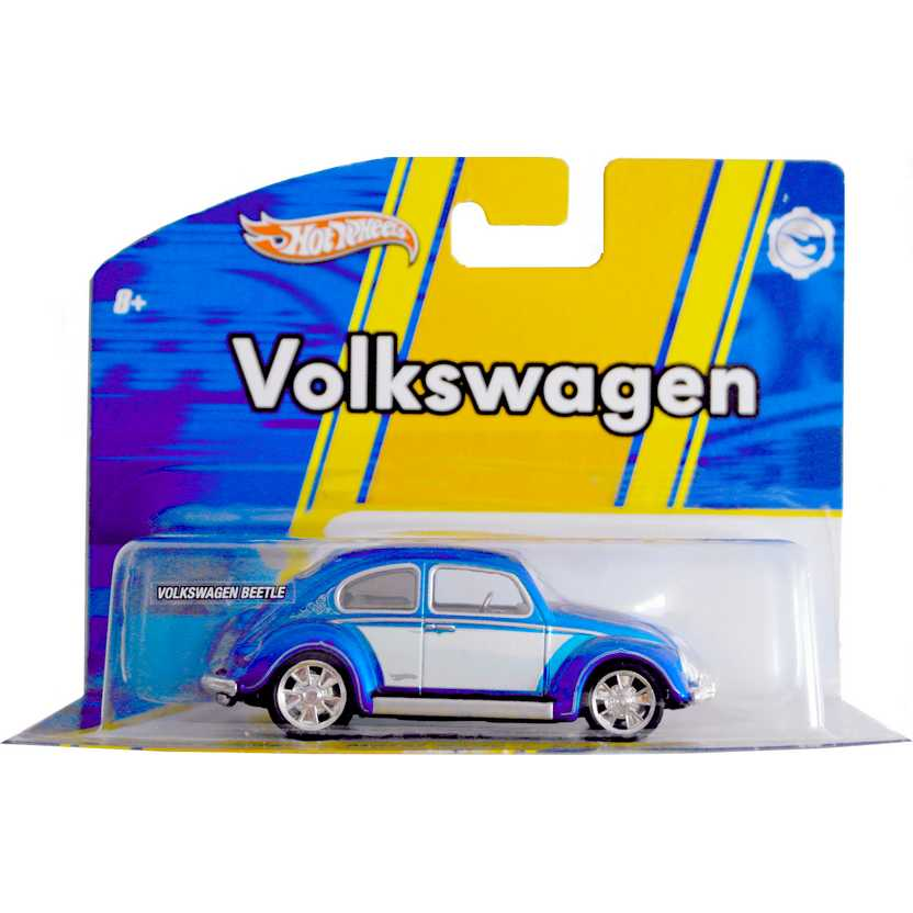 Hot Wheels Volkswagen Beetle Split Window VW Fusca escala 1/50 com pneus de borracha