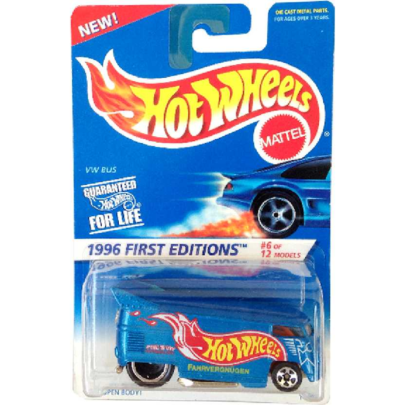 Hot Wheels VW Drag Bus (Kombi) 1996 First Editions series 6/12 14912 #372 escala 1/64 RARO