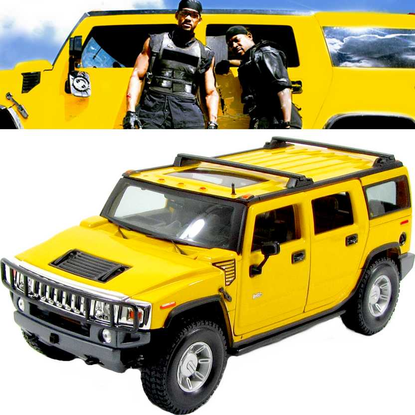 Hummer H2 SUV (2003) similar do filme Bad Boys II marca Maisto escala 1/18