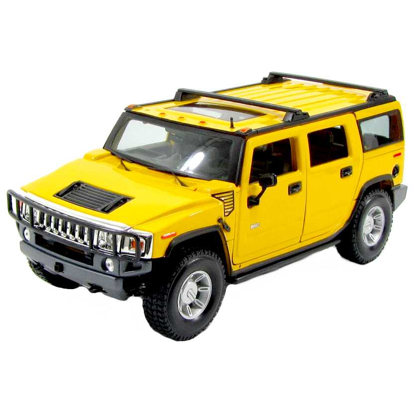 Hummer H2TM SUV (2003) Maisto escala 1/18 - abre 4 portas