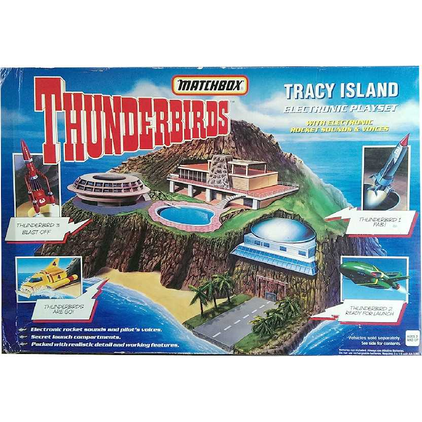 Ilha Thunderbirds com som marca Matchbox Tracy Island Electronic Playset