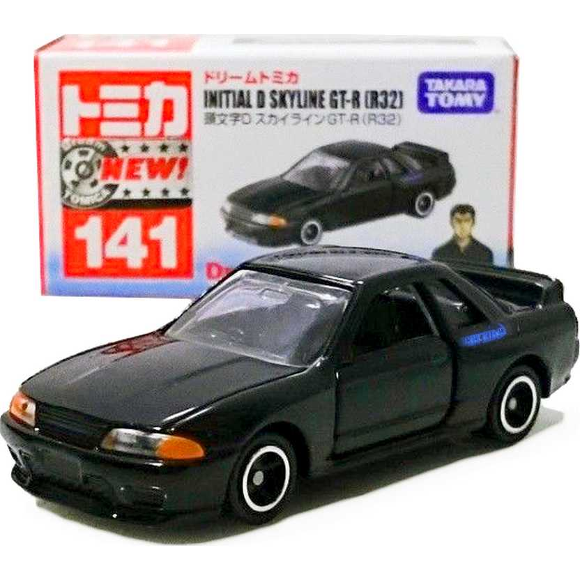 Initial D - Nissan Skyline GT-R R32 Dream Tomica Takara / Tomy escala 1/64
