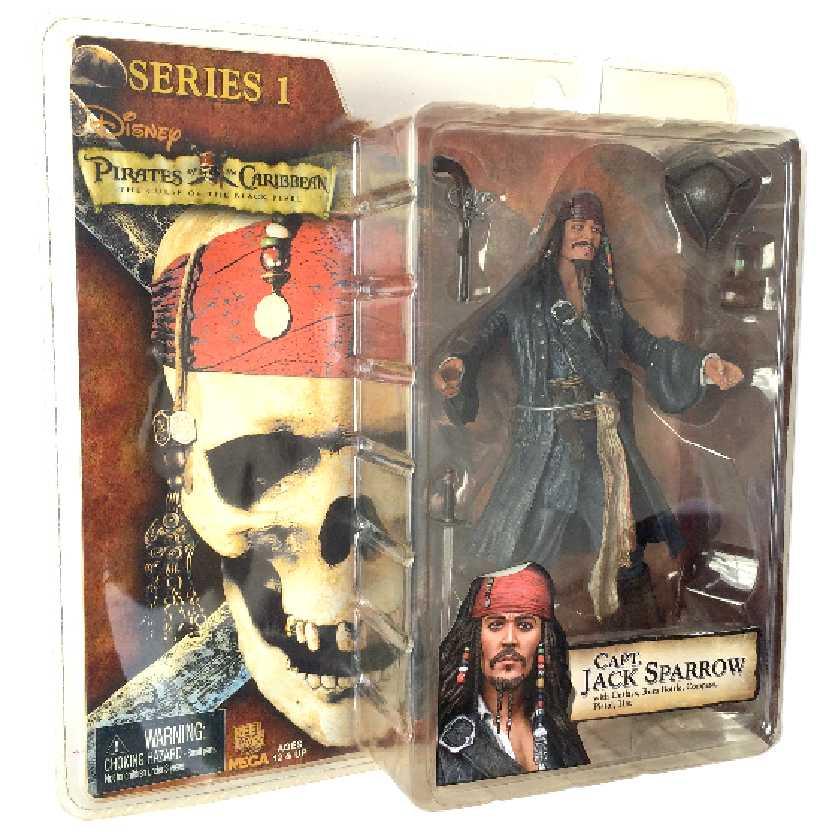 Jack Sparrow sorrindo Pirates of The Caribbean série 1 Neca Johnny Depp