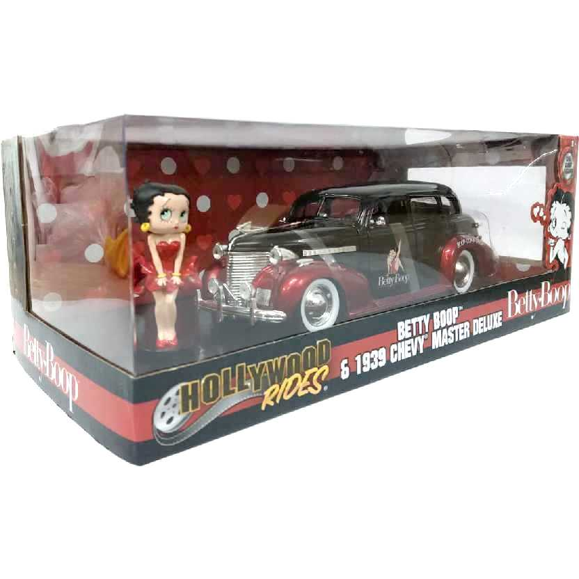 Jada Toys Betty Boop + 1939 Chevy Master Deluxe Hollywood Rides escala 1/24