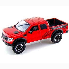 Jada Toys Ford F150 SVT Raptor (vermelho) escala 1/24