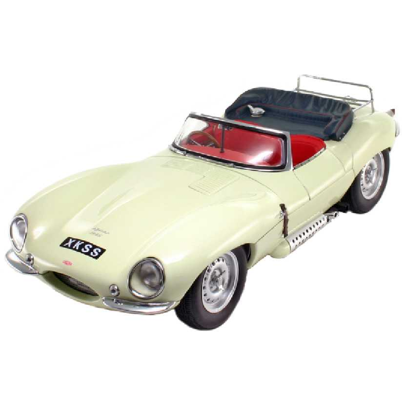 Jaguar XK-SS 1956 bege marca Autoart escala 1/18