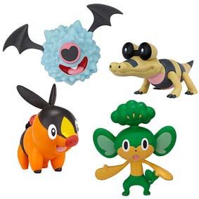 Jakks Pacific Brinquedos do Pokemon : Tepig, Woobat, Pansage e Sandile