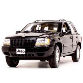 Jeep Grand Cherokee preto (2001) Miniatura Motor Max escala 1/18