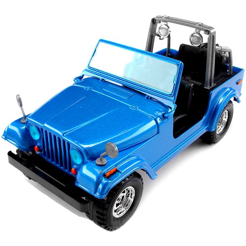 Jeep Wrangler CJ-7 azul (1980) marca Bburago escala 1/24