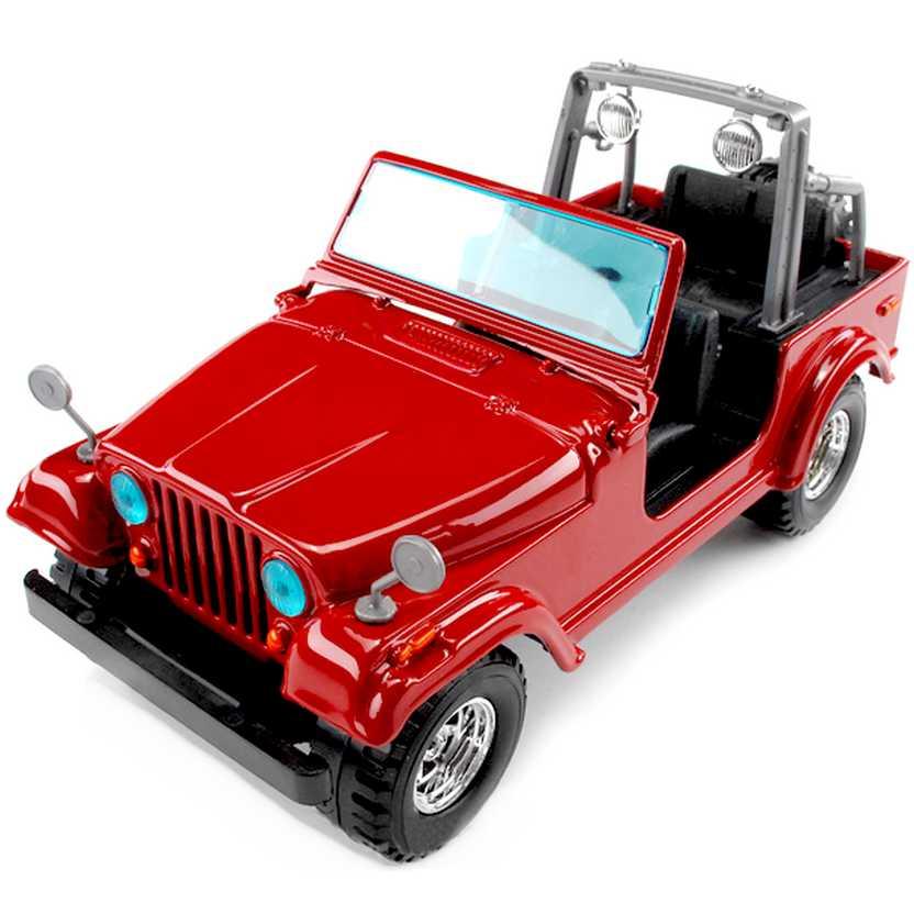 Jeep Wrangler CJ-7 vermelho (1980) marca Bburago escala 1/24