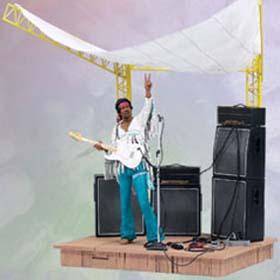 Jimi Hendrix box set Figuras de Ação Mcfarlane Toys