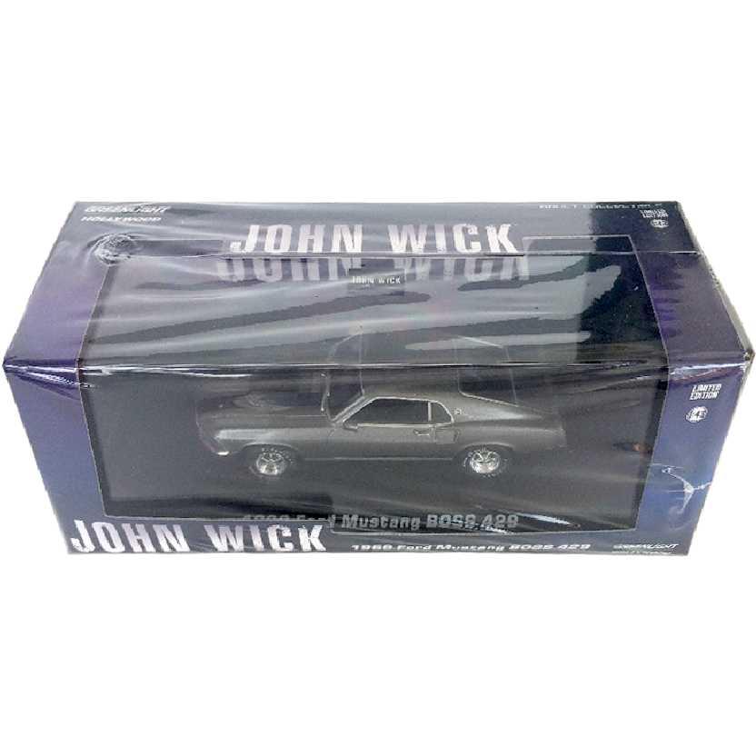 John Wick (Keanu Reeves) 1969 Ford Mustang Boss 429 Greenlight escala 1/43