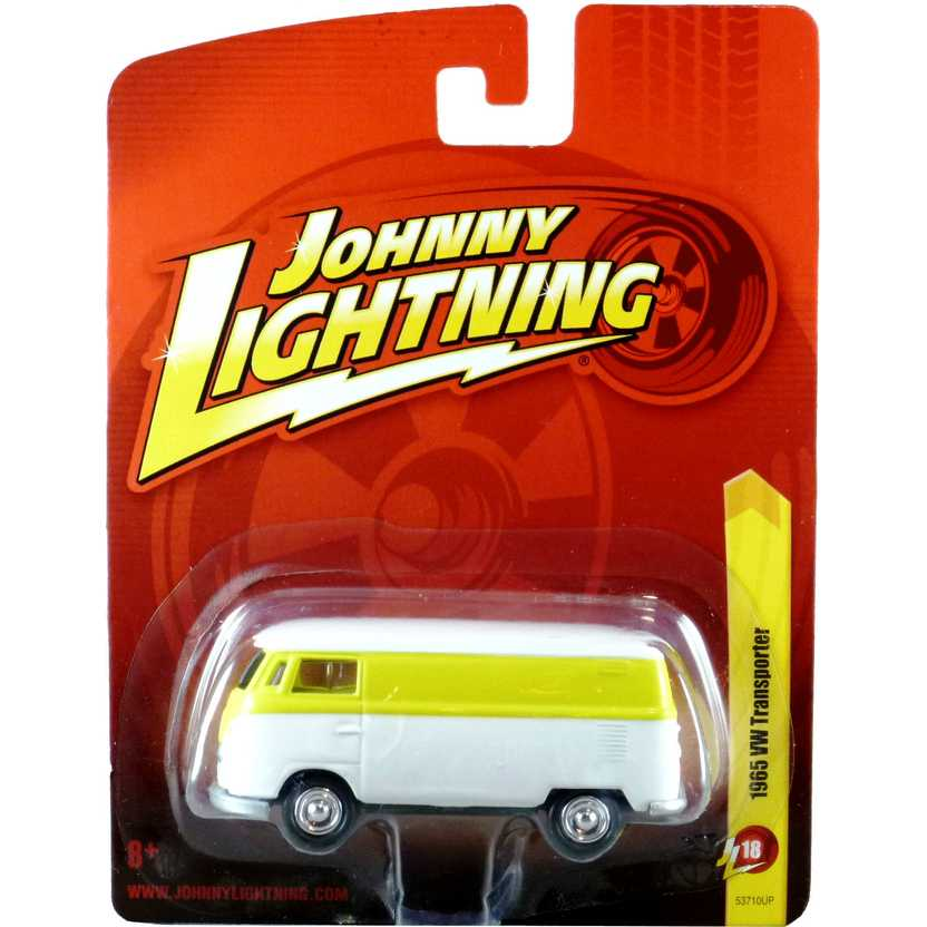 Johnny Lightning 1965 VW Kombi amarela / Transporter 53710UP release 18 escala 1/64