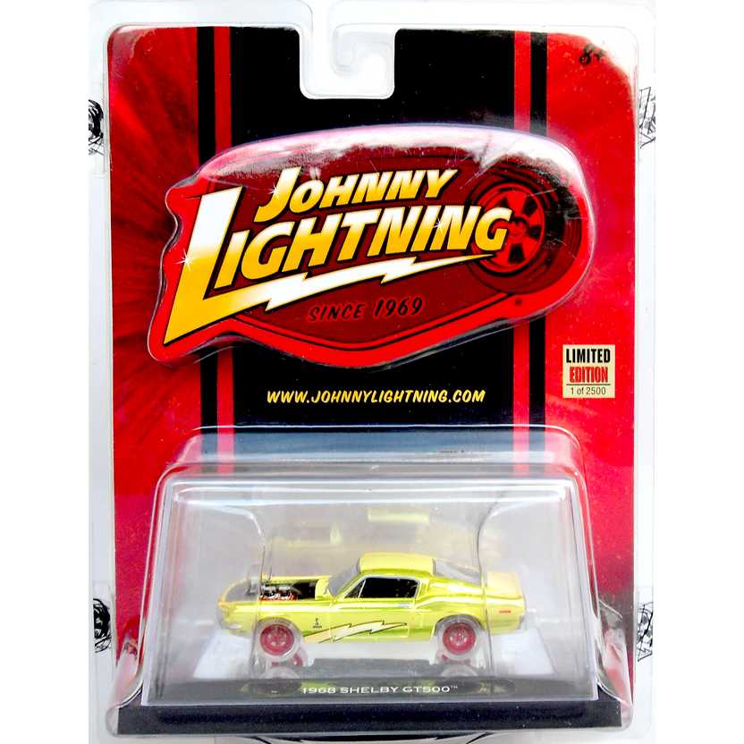 Johnny Lightning 1968 Mustang Shelby GT500 Mail Promo 1/2500 52409 escala 1/64