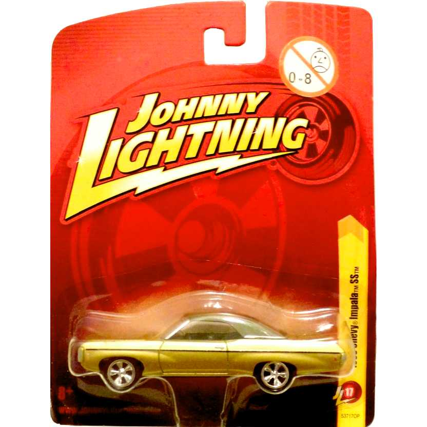 Johnny Lightning 1969 Chevy Impala SS dourado release 17 53717OP escala 1/64