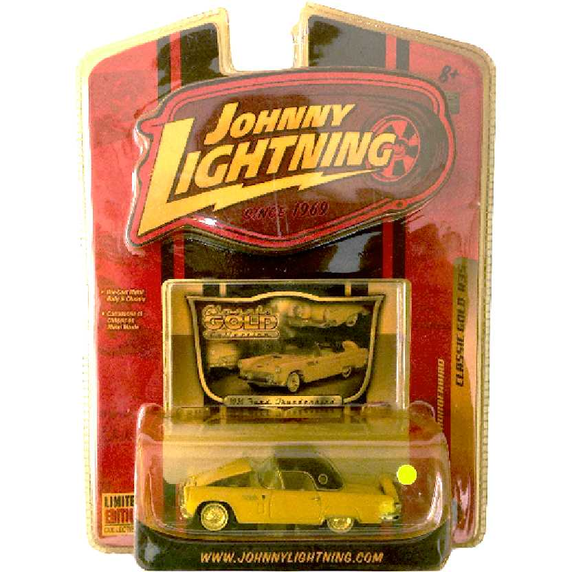 Johnny Lightning 56 Ford Thunderbird Classic Gold R35 50185 escala 1/64