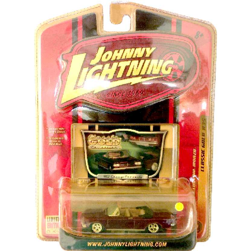 Johnny Lightning 62 Chevy Corvair Monza Classic Gold R35 50185 escala 1/64