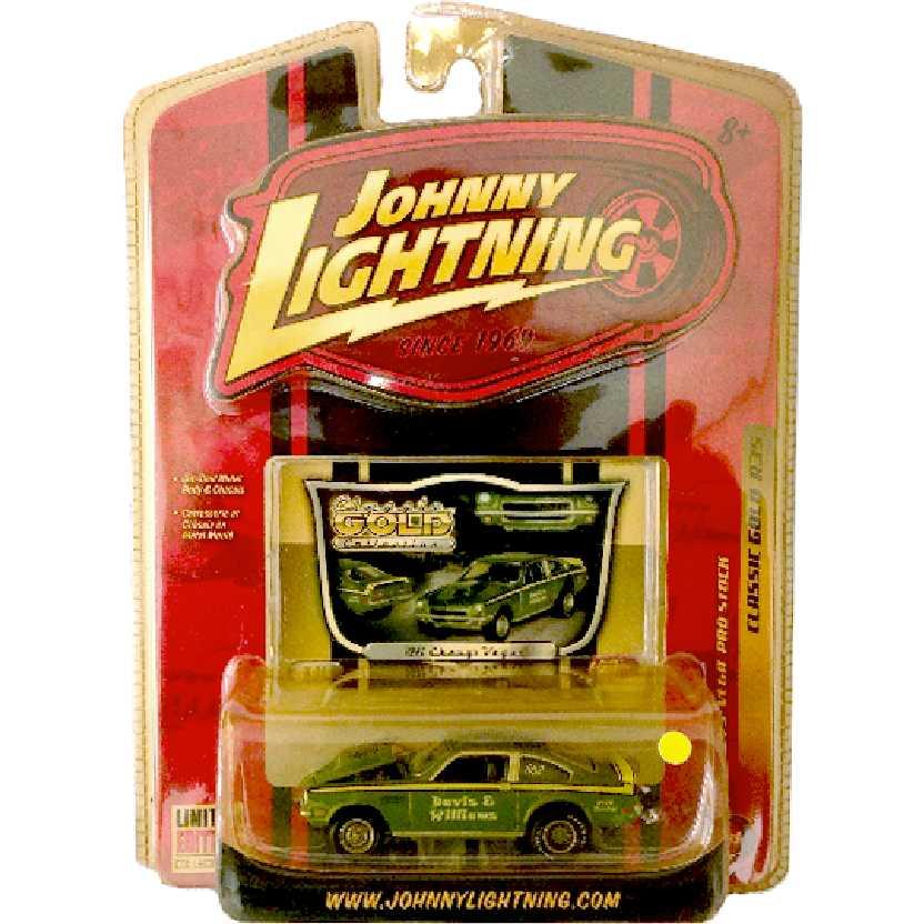 Johnny Lightning 71 Chevy Vega Pro Stock Classic Gold R35 50185 escala 1/64