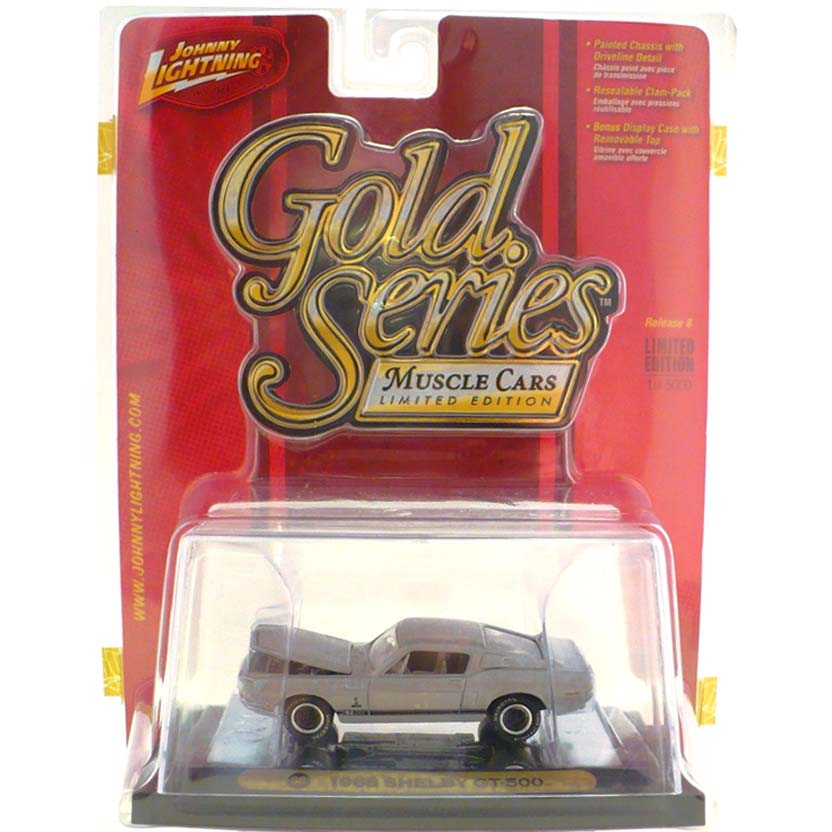 Johnny Lightning escala 1/64 : 1968 Shelby GT-500 ( Gold Series Muscle Cars R8 ) 53293J