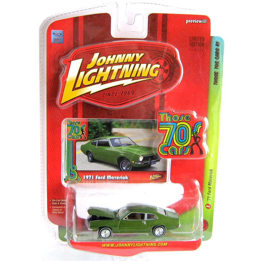 Johnny Lightning escala 1/64 - 1971 Ford Maverick Those 70s Cars R1