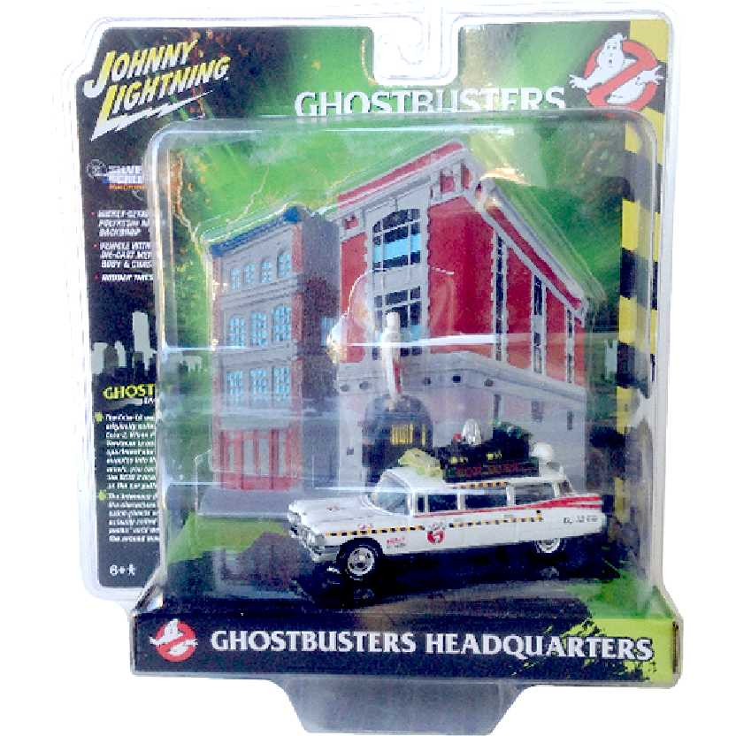 Johnny Lightning Ghostbusters Caça Fantasmas ECTO-1A 1959 Cadillac escala 1/64 JLDR002