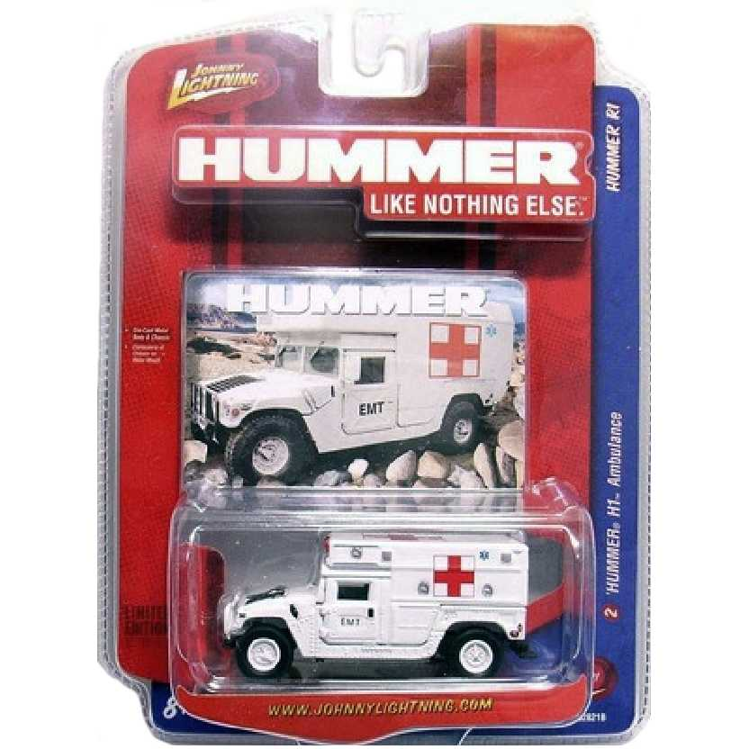 Johnny Lightning Hummer H1 Ambulance (Ambulância) escala 1/64