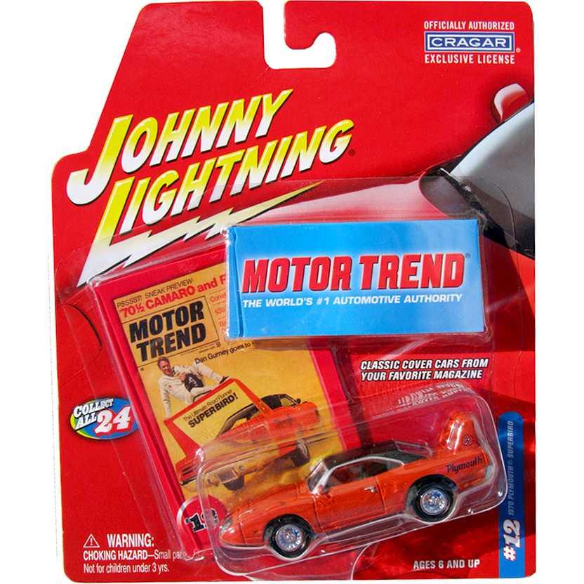 Johnny Lightning Motor Trend #12 1970 Plymouth Superbird escala 1/64 release 6