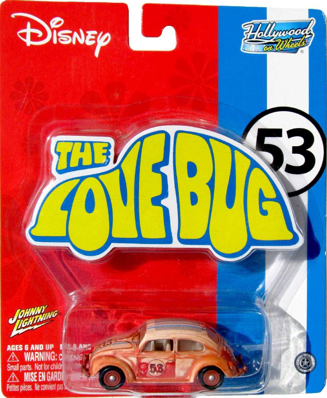 Johnny Lightning The Love Bug Herbie ( Fusca ) Hollywood On Wheels escala 1/64