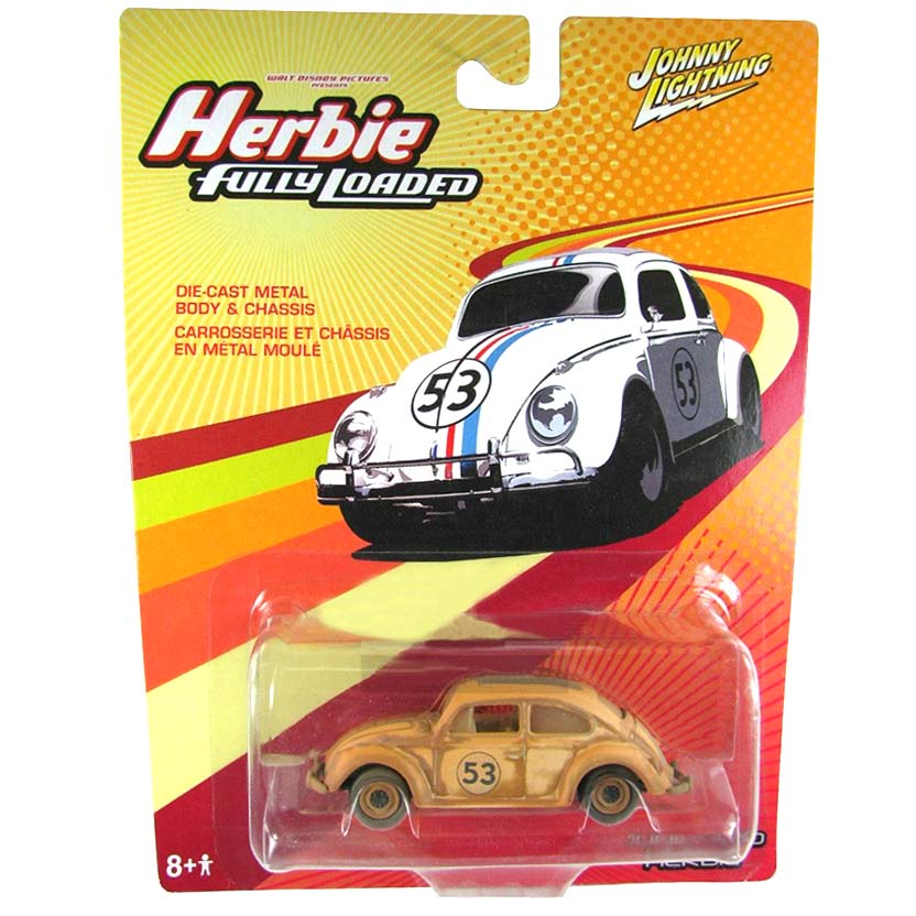 Junkyard Herbie (Fusca) Johnny Lightning escala 1/64 - Herbie Fully Loaded