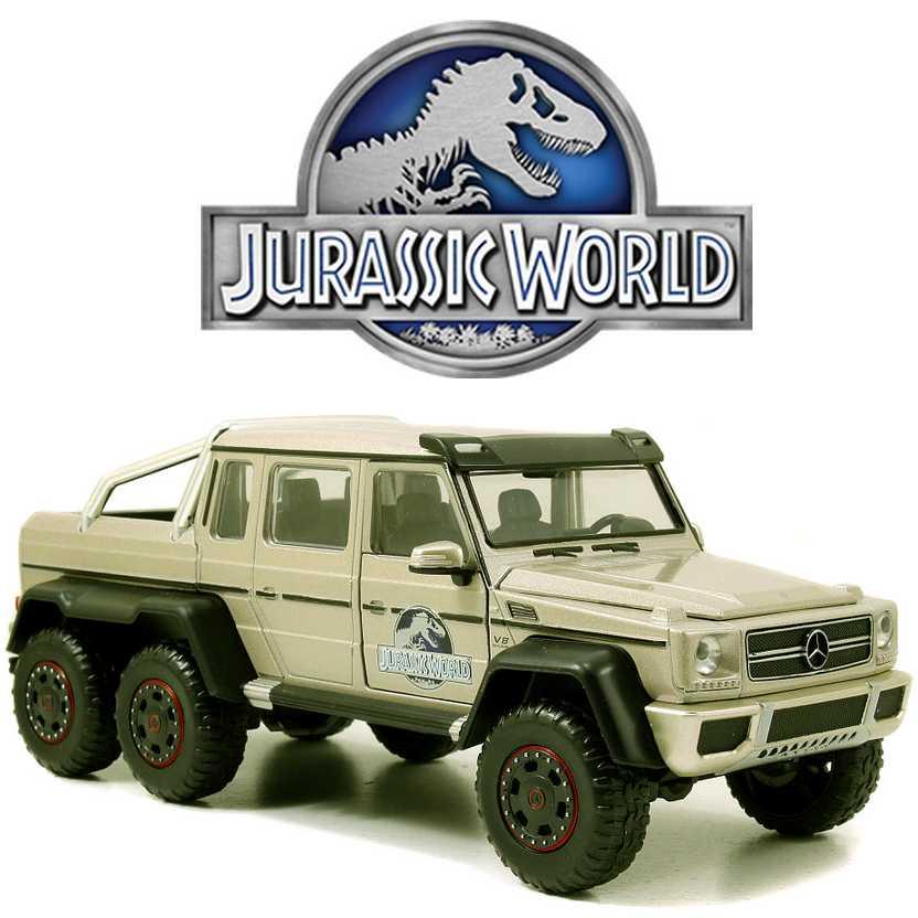 Jurassic World Mercedes Benz G63 AMG 6x6 marca Jada Toys escala 1/24