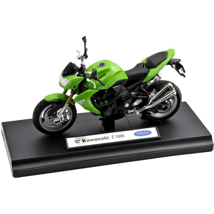 Kawasaki Z 1000 verde - miniaturas de motos Welly escala 1/18