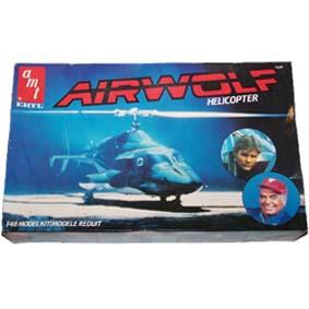 Kit plástico do Helicóptero Águia de Fogo ( Airwolf Helicopter ) marca AMT/ERTL